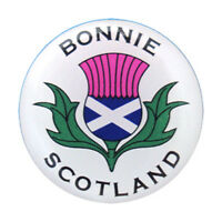 Scottish Bonnie Scotland Saltire Thistle Round Metal Pin Badge Lapel