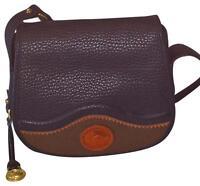 New Vintage Dooney & Bourke Saddle Bag Shoulder Purse All Weather Leather Black