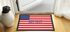 "24X16"" PERSONALISED USA FLAG DESIGN ENTRANCE DOOR MAT NON SLIP ADVERTISING TOOL"