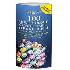 Il laboratorio di Natale 100 LED COLLEGABILE Stringa Luci multi-colore