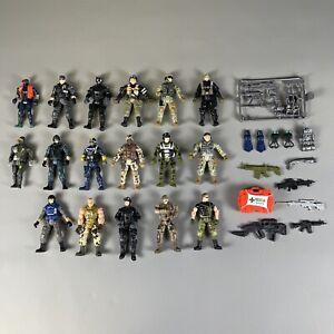 "Chap Mei S1 Marines 4"" Army Action Figures - Lot Commandos Tactical Scuba Gear"