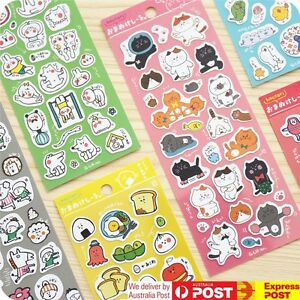 JAPAN Q-LiA [Hoccori] Sticker Sheets Funny Characters in 6 Designs Scrapbooking