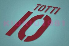 AS Roma Totti #10 2003-2004 Awaykit Nameset Printing