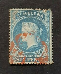 St Helena QV SG2 Used Red Cancel