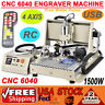 3 / 4 Axis USB CNC Router 6040 Engraver Metal Cut Mill Drill Machine1.5KW + RC