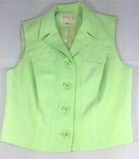 ALBERTO MAKALI Vintage Lime Green Lined Vest Size 8