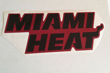 """Miami Heat FATHEAD Black/Red Team Banner Sign 20"""" x 8"""" Official NBA Graphics"""