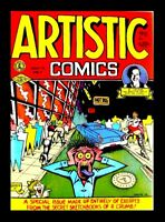 ARTISTIC COMICS #1 1987 3rd PRINTING, ROBERT CRUMB, KITCHEN SINK, UNDERGROUND CO