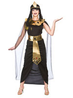 Sexy Deluxe Egyptian Goddess Ladies Fancy Dress Cleopatra Egypt Womens Costume