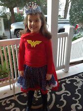 EUC L 6 7 8 Kaiya Eve Oopsy Daisy Baby Pettiskirt Skirt Stars Wonder Woman