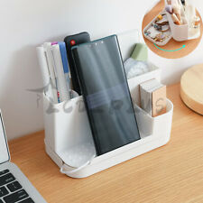 Desk Organizer Pen Makeup Holder With Rotating Drawer Home Office Desktop Supply