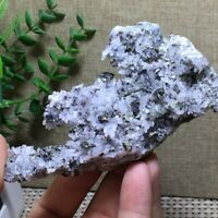 109g NATURAL Calcite Grow with chalcopyrite Crystal Cluster Specimen n1350