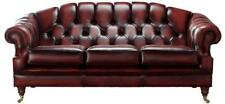 Chesterfield Victoria 3 Seater Antique Oxblood Leather Sofa Settee