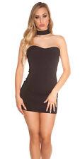 Sexy Bandeau robe dos-nu Robe 34 36 38 Mini Mini-robe Noir