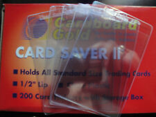 Card Saver II 2 by Cardboard Gold Semi Rigid Card holders 5 Count