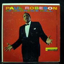 Paul Robeson - At Carnegie Hall LP VG+ VSD-2035 Vanguard Stereo 1960 Record