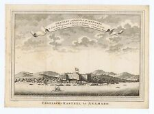 New listing 'CHATEAU ANGLOIS D'ANAMABO' FORT CHARLES ANOMABU, GHANA 1747 Schley engraving