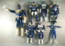Mighty Morphin Power Rangers Blue Lot of  7 figures Lightstar Galaxy Senturion