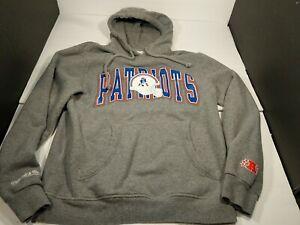 Mitchell & Ness New England Patriots Sweatshirt Hoodie Gray Large