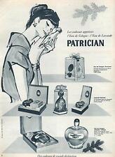 ▬► PUBLICITE ADVERTISING AD Parfum Perfume eau de cologne Patrician lavande