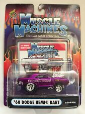Muscle Machines 1968 '68 Dodge Hemi Dart Red Light Bandit Purple 1/64 Diecast
