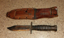 Us Vietnam Milpar Jet Pilot Survival Commando Military Fighting Knife & Sheath