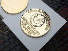 Coin medallion gold plated 50mm diameter  British Gas COIN