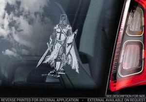 KNIGHTS TEMPLAR, Car Sticker, St George Dragon Freemason Masonry Window Decal V3