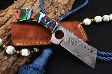 MH KNIVES CUSTOM HANDMADE DAMASCUS STEEL FULL TANG HUNTING/SKINNER KNIFE D-17W