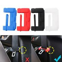 1pc Seat Belt Buckle Cover Silicone Scratch Cover Red Safety Accessories
