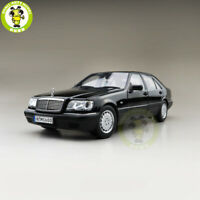 1/18 Mercedes Benz S600 V12 W140 Diecast Car Model Toys Boys Girls Gifts Black