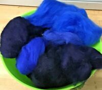 Wool Rovings-Botany Lap Waste-30g Blues-Tops-Felting-Spinning-Crafts-Toys/Dolls