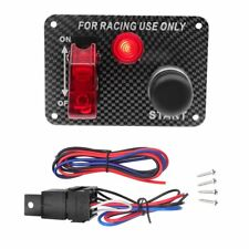 12V Ignition Switch Panel Engine Start Push Button RED LED Toggle for Racing Car
