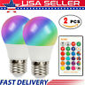2 PCS 16 Color Changing Light Bulbs with Remote Dimmable LED Light Bulb E27 Base