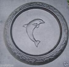 Dolphin birdbath mold grapes & leaves around rim reusable mould