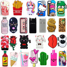 2017 3D Cartoon Horse Cat Soft Silicone Phone Case Cover For iPhone SE 5 6 7 8 X