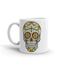 CROCE Giallo Zucchero Teschio Tazza-Day of the Dead Girl's Sister nipote regalo #4676