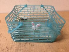 Rite Aid Easter Plastic Basket in Baby Blue and Easter Bunny 7.75 In X 7 In W