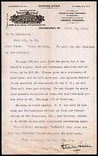 1891 Philadelphia - Medical Chronic Diseases Dr G R Starkey - Oxygen Letter Head
