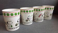 Tennis Peanuts Snoopy Vintage Stackable Cups, Hallmark, Plastic, Set Of 4