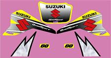 Suzuki LT80 Gráfico/Calcomanía Kit Fábrica Estilo Amarillo, Blanco O Rojo
