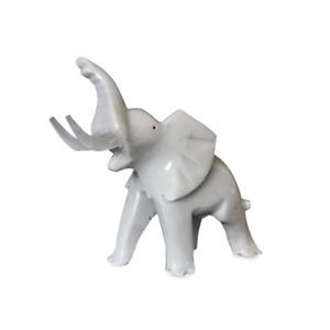 Petite Statue Éléphant En Marbre Blanc Idée Cadeau Marble Elephant Table