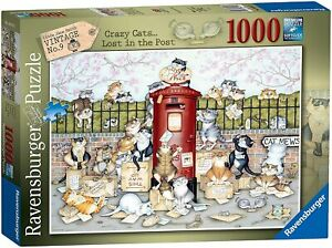Ravensburger 1000pc Puzzle Crazy Cats... Lost in the Post 16417