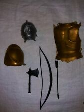 """Marx 12"""" Knights Weapons Gear Equipment Lot 1960s 1970s"""