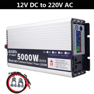 Terisass 4000W Car Power Inverter 12V to 220V Pure Sine Wave Power Inverter Voltage Transformer Universal for Car