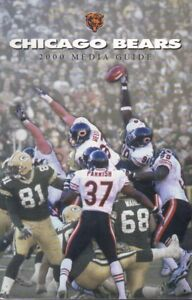 2000 Chicago Bears Media Guide Blocking Green Bay Field Goal Picture on Cover
