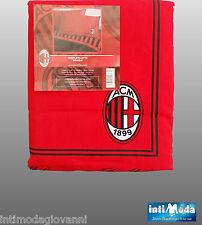 Completo Letto Singolo Calcio A.C. Milan Ufficiale Originale Lenzuola Cotone