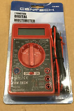Cen Tech Digital 7 Function Multimeter Tester Volts Amps Ohms With 30 Leads