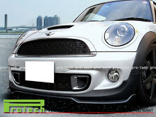 GB Style Carbon Fiber Front Bumper Lip Spoiler For MINI Cooper R56 S ONLY