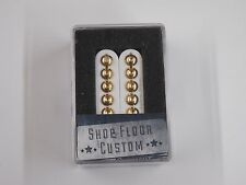 Seymour Duncan SH-8b Invader Bridge Humbucker White W/Gold Poles